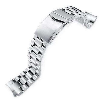 سوار ساعة Strapcode 22mm endmill 316l سوار مشاهدة الفولاذ المقاوم للصدأ ل Orient Mako الثاني وراي الثاني، الخامس شبك نحى