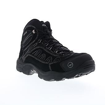 Hi-Tec Bandera Mid Waterproof  Mens Black Suede Hiking Boots Shoes