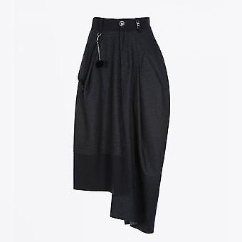 HIGH  - Jaunty - Asymmetric Pants-Skirt - Navy/Grey