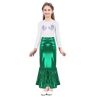 Girls Little Mermaid Purple Shell Halloween Costume