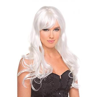 Perruque burlesque - Blanc