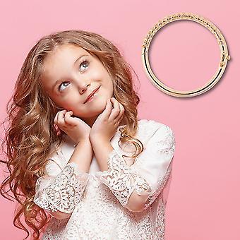 "TJC Allegro Bangle voor vrouwen Geel Verguld Sterling Silver Size 4.95"""