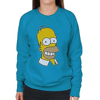 The Simpsons Smiling Homer sudadera de mujer