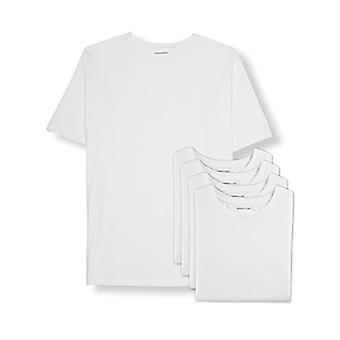 Essentials Men's Big & Tall 5-Pack Crewneck Undershirts Shirt, -White,...
