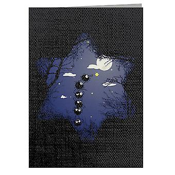 My Star Soot Ball Sprite Spirited Away Sihouette Greeting Card