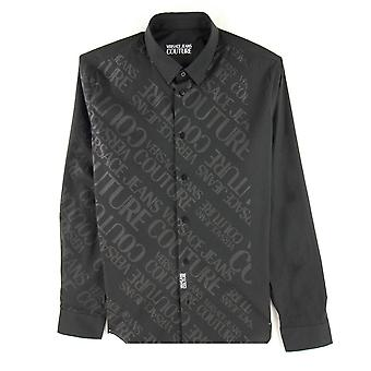 Versace Jeans Couture Stretch Print Shirt Zwart