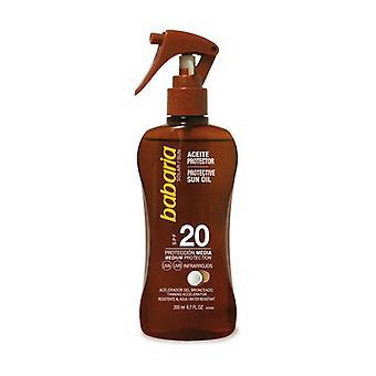 SPF 20 واقية من زيت الشمس مع زيت جوز الهند 200 مل من النفط