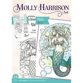 Crafter's Companion Photopolymer Stamps By Molly Harrison - Sea Of Bubbles