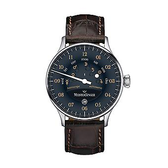 MeisterSinger Astroscope Automatic AS902OR Brown Leather Strap Black Dial Men's Watch