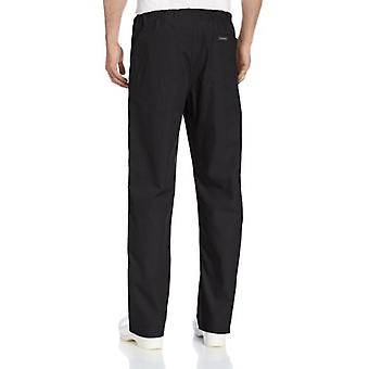 Landau Comfort Stretch One-Pocket Reversible Drawstring Scrub Pant, Black, La...