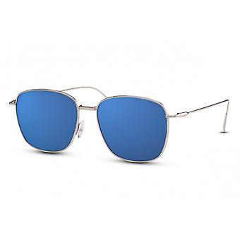 نظارات شمسية للرجال مستطيلة Cat.3 الفضية / الزرقاء (CWI1444)