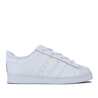 Girl's adidas Originals Infant Superstar Trainers in White