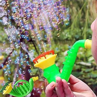 Set Plastic Water Blowing Bubble Soap Blower, Water Tools Toys For (multicolor)