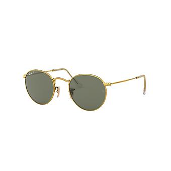 Lunettes de soleil Ray-Ban Round Metal RB3447 001/58 Gold/Polarised Green