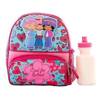 Strawberry Shortcake Girls Lunch Box Backpack, Water Bottle SB01227