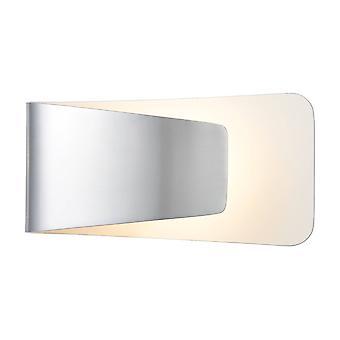 1 lys indendørs væg lys aluminium, hvid