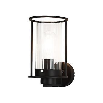 Luminosa Lighting - Światło ścienne, 1 Światło E27, Czarny, Szkło bezdyskowe