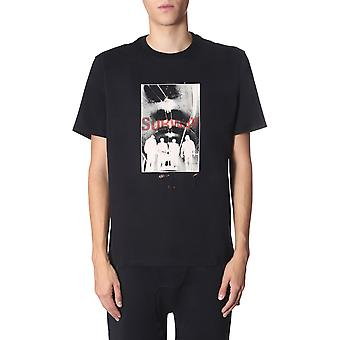 Neil Barrett Bjt621sm575s01 Men's Black Cotton T-shirt