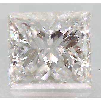 Certified 0.86 Carat D VVS1 Princess Enhanced Natural Loose Diamond 5.61x5.21mm