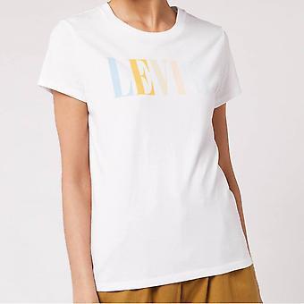 Levi's® Levis Perfect Graphic Tee Shirt (90's Serif White Multicolour)