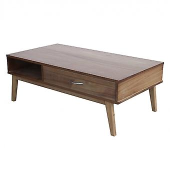 Rebecca Furniture Table Table 2 Brown Drawers Wood 40x110x60