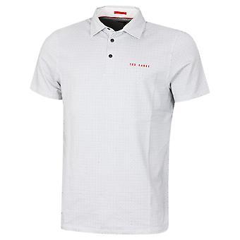 Ted Baker Herren Capp Mid Geo gedruckt Stretch Pop Stud Golf Polo Shirt