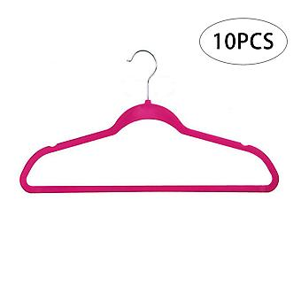 High-end velvet hangers, slim hangers with tie rods to save space, non-slip wardrobe hangers