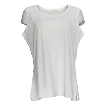 Isaac Mizrahi Live! Women's Top Essentials Scoop Neck Tank Bianco A374863