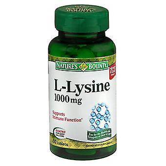 Nature's Bounty Nature's Bounty L-Lysine, 1000 mg, 24 X 60 Tabs