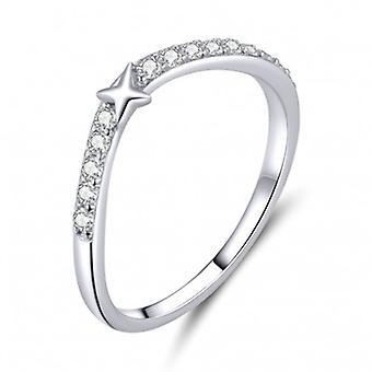 Sterling Silber Ring Star - 6862