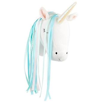 Soft Colorful Plush Stuffed Unicorn/swan Head For Wall Decoration Of Kids