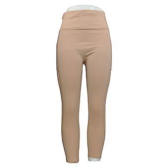 WVVY Leggings Pull On Mesh Lined Waistband W Back Zipper Pink 698-665