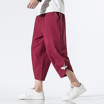 Loose Summer Chinese Style Casual Pants, 7 Points Trousers Cotton And Linen