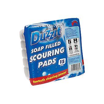 Duzzit Soap Filled Scourers 15 Pack DZT1059