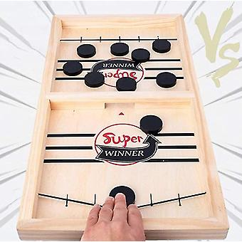 Fast Sling Puck Game Table Desktop Battle Ice Hockey Game Winner Board Games