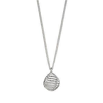 Shell Muster Kiesel Silber Tropfen Halskette