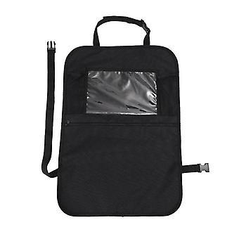 Bil bagsæde Organizer Front Seat Opbevaring Kids Pocket Bag Travel Kick Mat