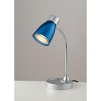 Fan Europe Arkimede - Lampe de table de tâche, Chrome bleu, E14
