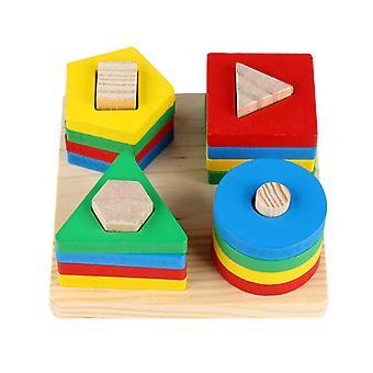 Παζλ παιχνίδια στοίβαγμα μπλοκ ξύλινα εκπαιδευτικά παιχνίδια εκπαιδευτικό δώρο