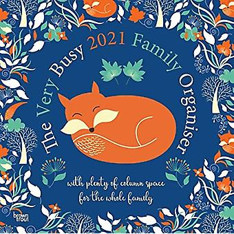 The Very Busy Family Organiser 2021 Square Calendar by Browntrout