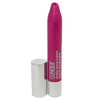 Clinique Chubby Plump and Shine Liquid Lip Pumping Gloss 3.9g Goliath Grape #07 -Box Imperfect-