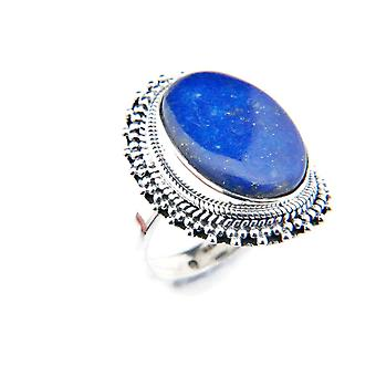 Lapis Lazuli Ring 925 Silver Sterling Silver Silver Women's Ring Blue (IRM 82-06)