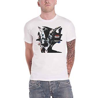 Slipknot T Shirt Iowa Goat Shadow Band Logo new Official Mens White