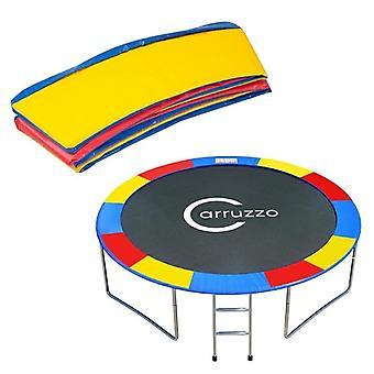 Trampoline rand 365 cm - regenboog multikleur - 2 cm dik