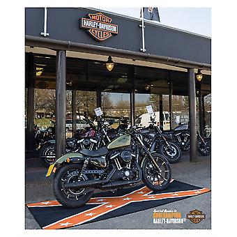 BikeTek Harley-Davidson Confederate Bike Garage Mat Black Supersize 280 x 100cm