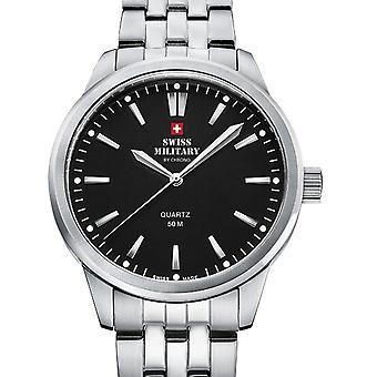 Damas reloj militar suizo por Chrono SMP36010.01, cuarzo, 33 mm, 5ATM