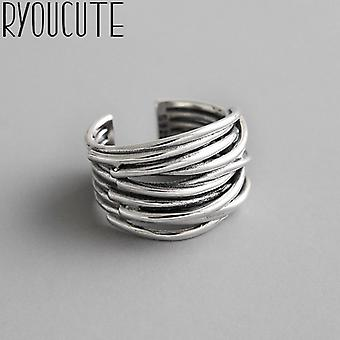 Simple Style Multilayer Line Rings With Large Chains