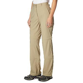 New Peter Storm Women's Stretch Double Zip Off Trousers Regular Beige