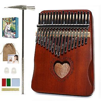 Kalimba Thumb Piano, Handguard Wood Mahogany Mbira Body -soittimet,