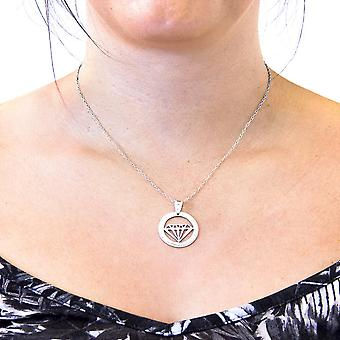 ANCHOR & CREW Faceted Diamond Disc Paradise Silver Ketting Hanger
